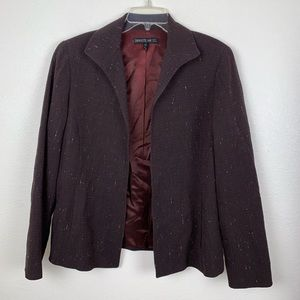Lafayette 148 Wool Blend Open Front Blazer Jacket
